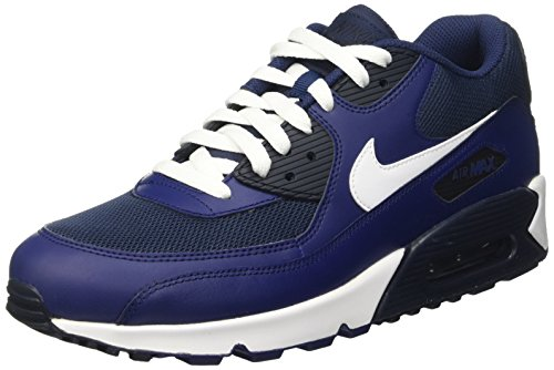 Nike Herren Air Max 90 Essential Low-Top, Blau (Lyl BL/White-Sqdrn BL-Drk Obsd), 44 EU