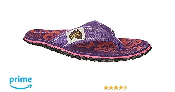 Gumbies Islander Sandale purple hibiscus EU 41