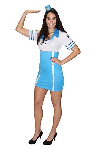 Kostüm Damen Kinderspiel - Foxxeo Sexy Stewardess Kostüm für Damen Flugbegleiterin Stewardesskostüm Damenkostüm Karneval Fasching Größe M