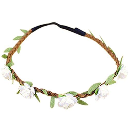 Hippie-Amore a forma di fiore di fiori corona Festival serto nuzialeche bohemien a forma di fiori fascia capelli perfetto come regalo di nozze bianco