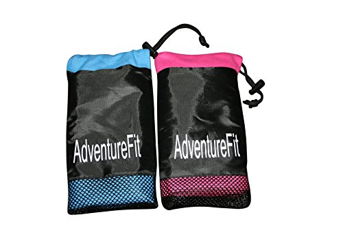 Fast Drying Sports Backpacking Coins etc Camping Ultra Compact Microfibre Towel Comes With Free Storage Pouch for Easy Transportation Handy Zip Pocket for Keys Thin and Lightweight for Gym Trekking Highly Absorbent Travel
