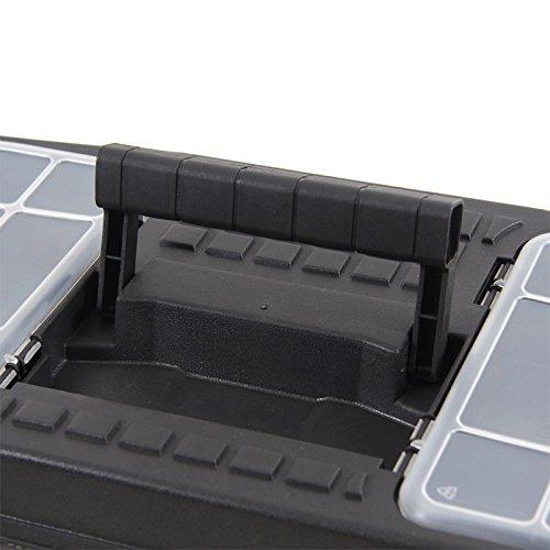 Kunststoff Werkzeugkoffer ERGO Profi 19,5″, 48x26cm Kasten Werzeugkiste Sortimentskasten Werkzeugkasten Anglerkoffer - 9