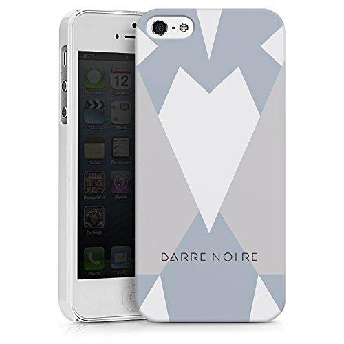 Apple iPhone X Silikon Hülle Case Schutzhülle Dreiecke Muster BARRE NOIRE Hard Case weiß