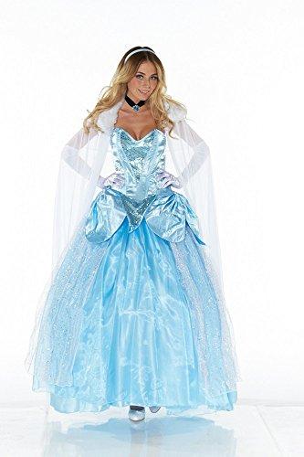 Deluxe Kostüm CINDERELLA - LANG, Größe:M/L (Cinderella Kostüm Erwachsene)