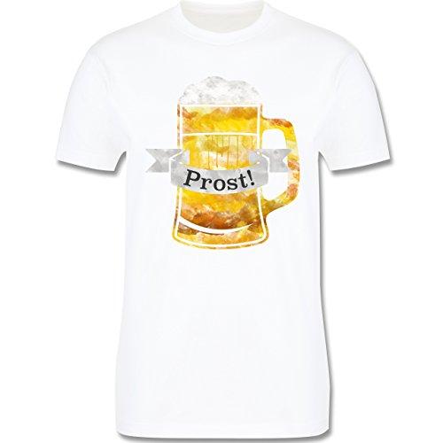 Oktoberfest Herren - Prost Bierkrug Wasserfarben - Herren Premium T-Shirt Weiß