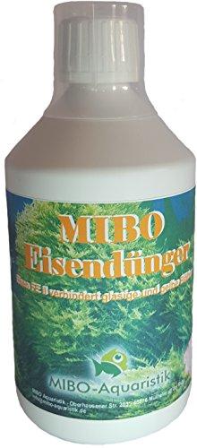 MIBO-Aquaristik Eisendünger 500 ml Flasche mit Dosierbecher ausreichend für 3.000 L Wasser! Jetzt NEU!