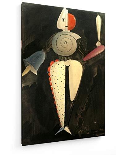 Kunst Kostüm Für Museum - Oskar Schlemmer - The Abstract - Triadische Ballett - 40x60 cm - Leinwandbild auf Keilrahmen - Wand-Bild - Kunst, Gemälde, Foto, Bild auf Leinwand - Alte Meister/Museum