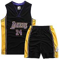 SHPP Kobe Bryant # 24 Los Angeles Lakers - Pantalones Cortos de Baloncesto para Adultos para Hombres Conjunto de Ropa Deportiva de Jersey Tops y Pantalones Cortos (XS-XXL)-Black-M