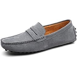 CCZZ Mocasines Hombre Buena Calidad Cuero de Gamuza Loafers Casual Zapatos de Conducción Comodidad Calzado Plano 38-49 EU