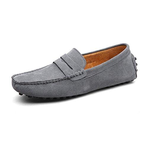 CCZZ Herren Klassische Mokassin Weich Comfort Wildleder Loafers Schuhe Minimalistisch Flache Fahren Schuhe Bootsschuhe Slippers 38-49 EU Flache Slipper