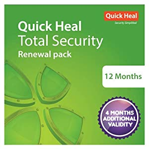 Quick Heal Total Security Renewal Upgrade Silver Pack – 1 User, 1 Year (DVD) (existing Quick Heal subscription required)
