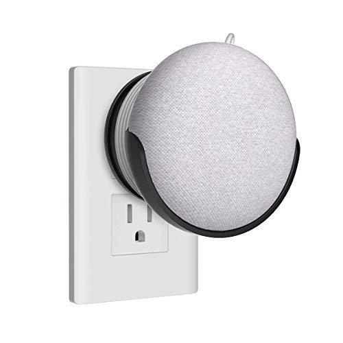 Home HOD supporto da parete Staffa per Mini casa Google Voice assistants, Wall Mount/direttamente aufgehaengt spina in cucina bagno camera da letto, nascosto la Google Home Mini cavo (bianco)