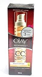 Olay Advanced Anti-Aging Regenerist Complexion Corrector Moisturizer (Light skin tone) 50ml with Ayur Product in Combo