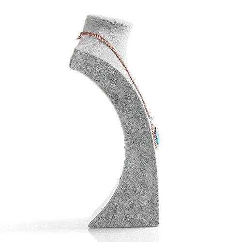 Sinoba Schmuckbüste Schmuckhalter Kettenhalter Schmuckständer grau (H1: 21.5cm)