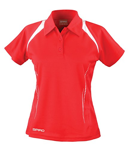 Spiro - Polo - Femme rouge/blanc