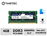 Timetec Hynix IC Apple 4GB DDR3 PC3-8500 1066MHz memory upgrade for iMac 20 inch /21.5 inch/24 inch /27 inch, MacBook Pro 13 inch/ 15 inch/ 17 inch, Mac mini 2009 2010 (4GB)