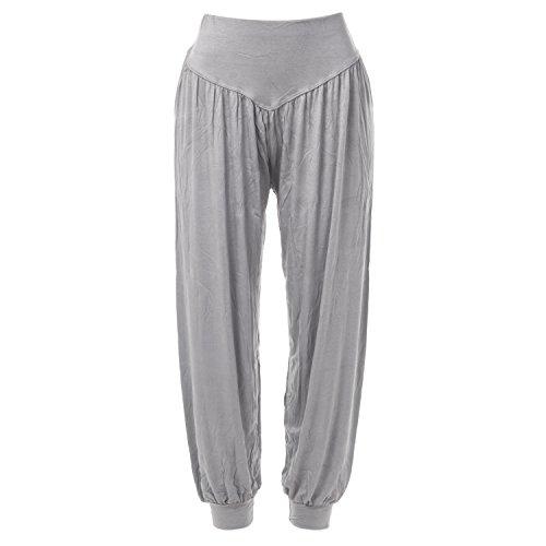 DODOING Damen Haremshose Aladinhose Hose Pluderhose Pumphose Stoff Sommer Harem Yoga Pilates Lange Hosen