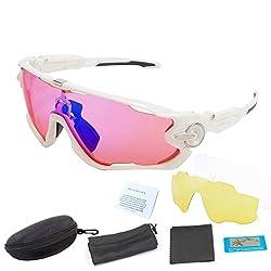 J08, 3 lens in total : Brand NEW Polarized Cycling Glasses Outdoor Men Women Sports Bicycle Sunglasses Bike Goggles Fishing Eyewear Myopia Frame 3 Lens