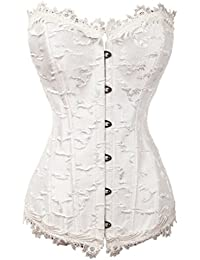 ZAMME mujer's Burlesque Beautiful Floral Cord¨®n Overlay Ate para arriba Outwear Cors¨¦