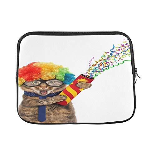 Lustige Kostüm Clowns - QuqUshop Design Benutzerdefinierte Lustige Katze Trägt Kostüm Clown Haltehülse Weiche Laptop Tasche Haut Für MacBook Air 11