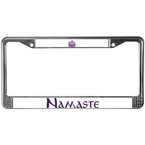 CafePress Namaste E Lotus License Plate Frame per software–Standard