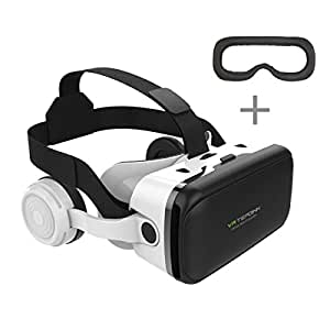 Tepoinn Visore VR Smartphone Realtà Virtuale 3D con Cuffie VR Occhiali per Smartphone da 4.0 a 6,0 pollici iphone Samsung Galaxy Huawei Android Perfetto di 3D Giochi e Film