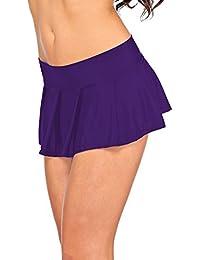 Arunta® Sexy Minirock kurz Schulmädchen Mini Rock Faltenrock Tanz Rock in Schwarz Rot Violett Pink oder Türkis Einheitsgröße XS-M 34-38