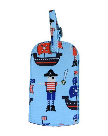 Gisela Graham Boys PVC Pirate Luggage Tag