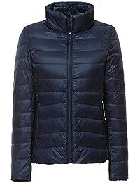 ZiXing Femme Hiver Manteau Ultra Légère Doudoune à Capuche Courte Veste  Compressible Chaud Blouson en Duvet 24fb229991ac