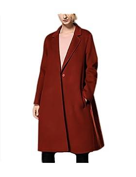 Otoño Invierno engrosamiento de doble cara chaqueta de lana abrigo de cachemira Outwear Traje collar rompevientos...