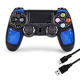 Wireless Game Controller für PS4 Controller, DoubleShock 4 Joystick Gamepad für PlayStation 4 Fernbedienung Kompatibel mit PC Bonus Free Charging Cable von Kabi (Diamant)