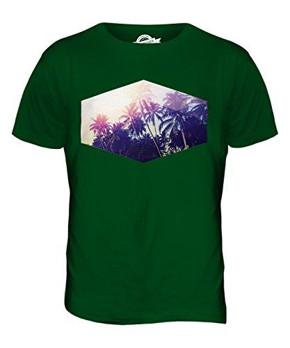 CandyMix Sommer Palmen Herren T Shirt Flaschengrün