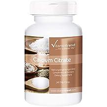 Citrato de calcio 300mg – vegano – sin estearato de magnesio – 240 tabletas – paquete