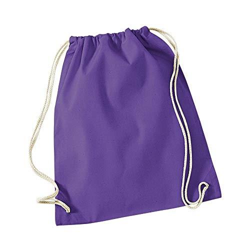 Westford Mill - Cotton Gymsac / Purple, 46 x 36 cm