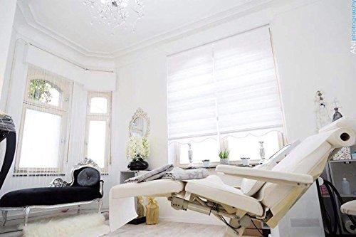 Double store 180 cm de largeur x 150 cm de longueur couleur blanc avec plus large Ballast + fermé CASSETTE + TREUIL alternative à rideau ou plissée Duo Rollo