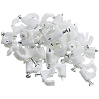 Lyanther Cable-Clip RG6, blanco, 100 piezas por bolsa (200-961)