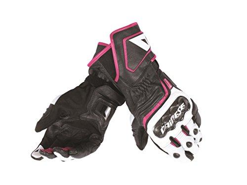 Dainese Carbon D1 Long Damen Handschuhe S Schwarz/Weiß/Pink
