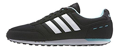 adidas City Racer W Damen Sneaker, Negro / Blanco / Azul (Negbas / Ftwbla / Azuent), 39 1/3 EU