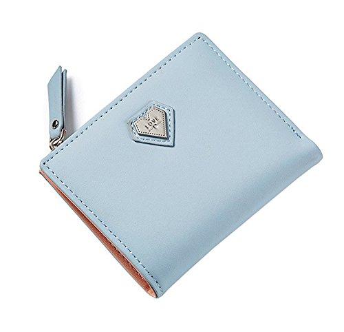 Nawoshow Borsa piccola borsa della borsa del raccoglitore del raccoglitore della borsa della frizione della borsa del cuore della borsa del raccoglitore delle piccole donne (Rosa) Blu