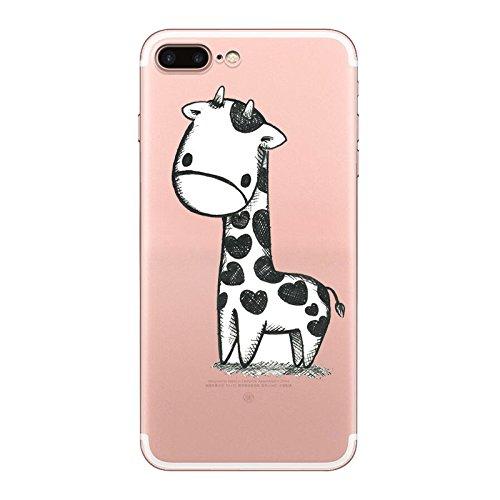 IPHONE 7plus Hülle Flamingos Katze Giraffe Weich Silikon TPU Schutzhülle Ultradünnen Case für iPhone 7plus Schutz Hülle Giraffe