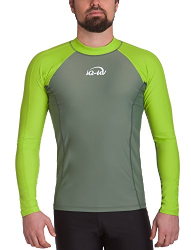 iQ-Company Herren UV-Shirt IQ 300 Watersport Long Sleeve Neo-Grün/Olive), L (52) -