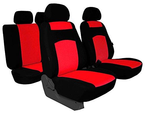POK-TER-TUNING Autositzbezüge Passend für Audi 80 - Sitzbezüge Classic Plus Zum Super Preis!!!!!! - in Diesem Angebot Hellrot (in 5 Farben Bei Anderen Angeboten erhältlich).