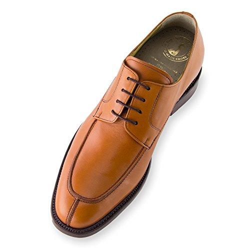 Masaltos Scarpe con Rialzo da Uomo Che Aumentano l'Altezza Fino a 7 cm. Fabbricate in Pelle. Modello Bordeaux Marrone