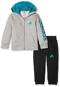 Adidas lk hojo ts tuta unisex bambini sport e for Tuta adidas amazon