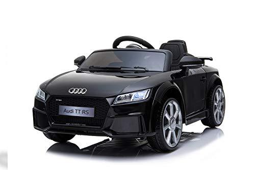 Toyas Lizenz Audi TT RS Kinder Elektrofahrzeug Kinderfahrzeug Kinderauto Elektroauto 2X 30W Motor Schwarz*