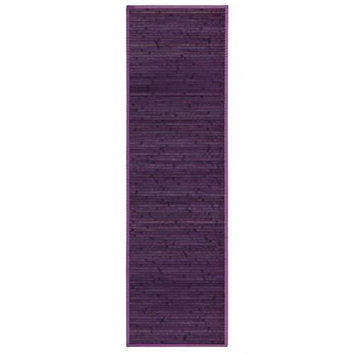 Alfombra de Pasillera, Lila, de Bambú Natural de 60 X 200cm Natur, 60x200 - Hogar y Más