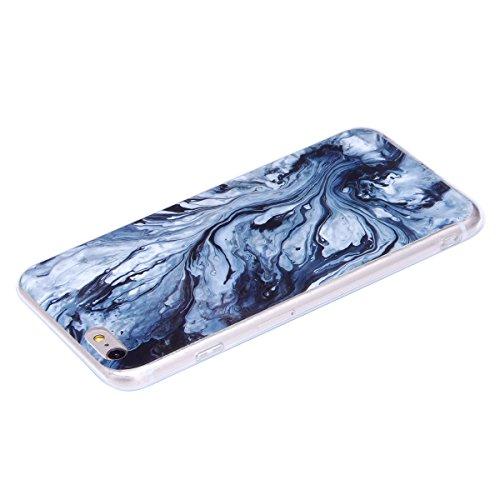 iPhone 6S Plus Hülle,iPhone 6 Plus Hülle,iPhone 6S Plus/6 Plus Silikon Hülle Tasche Handyhülle,SainCat Flamingos Flamingos Muster Ultra dünne Silikon Hülle Schutzhülle Durchsichtig Hadytasche Stoßfest Peitschergewirkter Marmor