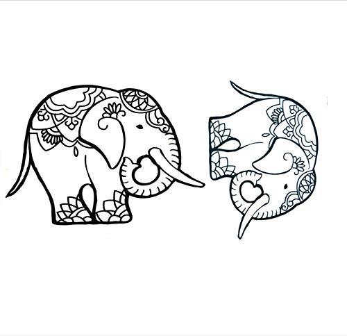 ruofengpuzi Netter Elefant Wasserdicht Temporäre Tätowierung Aufkleber Tier Temporäre Tätowierung S Harajuku Tattoo Körper Frauen Gefälschte