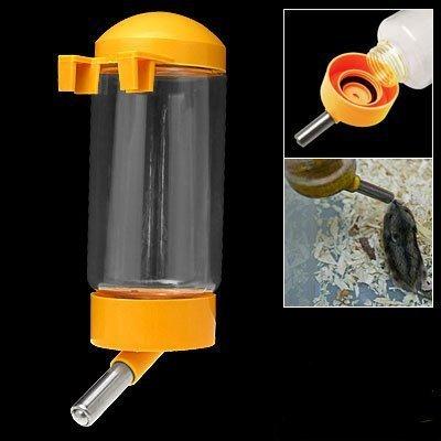 TOOGOO(R)Kleines Haustier Hund Welpen Hamster Kaefig Wasserflasche - Gelb