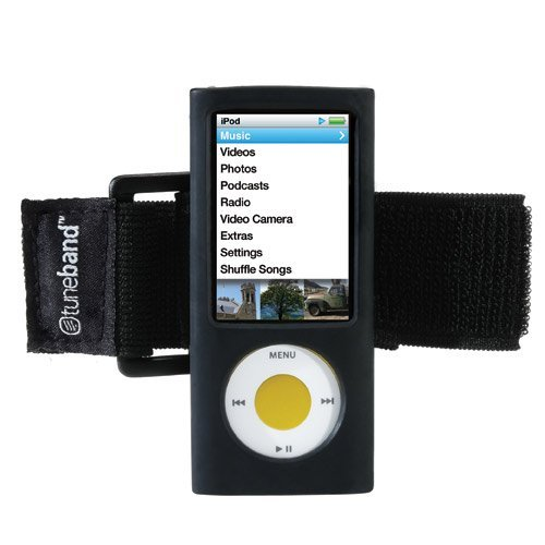 no 5th Generation (Model A1320, 8GB/16GB, Rear Camera), Grantwood Technology's Armband and Silicone Skin, BLACK (Ipod Nano 5. Generation Cover)